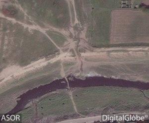 Immagine satellitare del fiume Khosr a Ninive, 1 aprile 2016