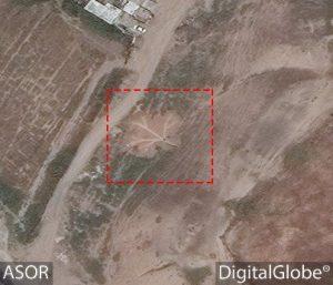 Immagine satellitare di un tunnel di scavo candestino a Ninive