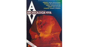 copertina rivista archeologia viva 28