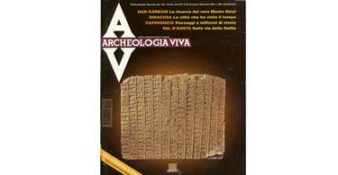 copertina rivista archeologia viva 50