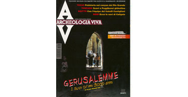 copertina rivista archeologia viva 61
