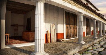 Domus di Tito Macro ad Aquleia - Strada e botteghe (I sec d.C.)